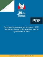 Informe 175 Derechos Humanos de Personas LGBTI