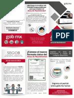 Actas de Nacimiento Digital 2017 México