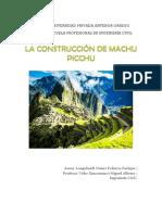 Monografia  Machu Picchu