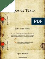 Tipos de Texto (s)