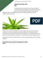 18 Benefícios Desconhecidos Da Aloe Vera (Babosa) Pra Sua Saúde