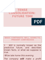 Tense Consolidation - Future Time