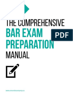 The Comprehensive Bar Exam Preparation Manual