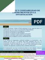 Validez y confiabilidad de instrumentos en la investigacion