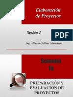 Elaboracion de Proyectos - Sesión 1