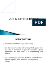 Job and Batch Costing