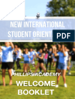 New International Student Booklet 2018