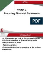Topic 4B Preparing Financial Statements 2016 v.1