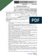 Modelo de Contrato de Concesión Postal Con Inclusión de Remesa