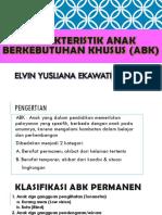 Karakteristik Anak Berkebutuhan Khusus (ABK)