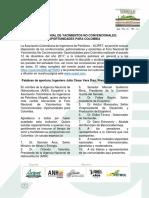 Resumen Foro Nacional de Yacimientos No Covencionales - Diciembre 12 de 2017