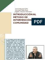 Introducción Al Método de Intervención Comunidad_II 2016 (1)