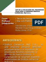 Aplicacion Del Ahp en La Seleccion Del Proveedor