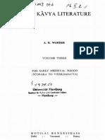 Indian Kavya Literature Vol 3 Warder a.K. MLBD (DLI)