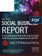 NetProspex Social Report Fall2010