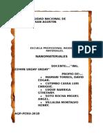 Nanomateriales y nanociencia