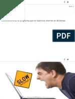 Cómo Encontrar El Programa Que Te Ralentiza Internet en Windows