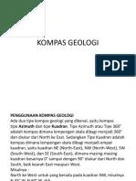 Pertemuan Ke II- Kompas Geologi