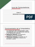 Arqui_compu(Clase 4) Memoria Interna