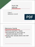 Arqui_compu(Clase 5) Mem. Cache