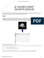 Basic Manipulation of Images in MATLAB
