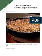 3 Recetas de Francis Mallmann_ Pascualina, Pastel de Papas y Mollejas Crujientes