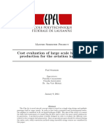 Cost Evaluation of Large Scale Hydrogen Production