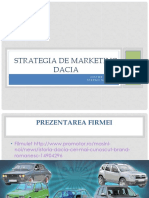Strategia de Marketing DACIA