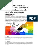 Psicología Del Color en Los Alimentos