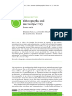 Ethnography and Intersubjectivity by Johanes Fabian