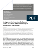 1. 2009-An Argument for Reversing the Bases of Science Education - A Phenomenological Alternative to Cognitionism