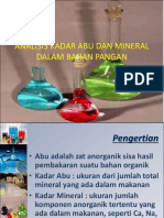 3 Analisis Kadar Abu Dan Mineral Dalam Bahan Pangan