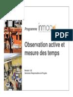 1.02 - Observation Active Et Mesure Des Tems