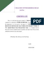 Vivo Quality Dialysis Certificate