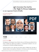 Eugene Wambaugh's Inversion Test and Its Applicability to the 'Right to Privacy' Judgement of the Supreme Court of India _ Live Law