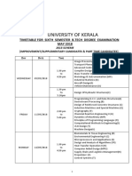 B-tech 6 th sem Exam Time Table(2018 May)