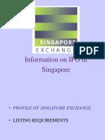 SGX-IPO in Singapore