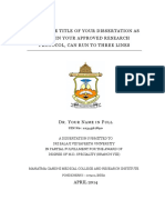 SBV Dissertation Template 2017