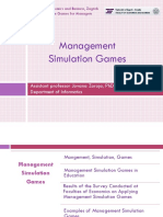 Simulation games for managers