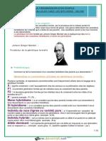 Cours - SVT - Génétique - La Transmission d'Un Couple d'Alleles Chez Les Diploides - 4ème Mathématiques (2015-2016) Mme Harbawi Mbarka