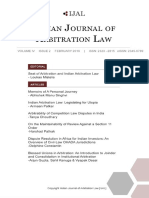 Indian Journal of Arbitration Law