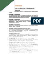 Posibilidades y Limitaciones TIC