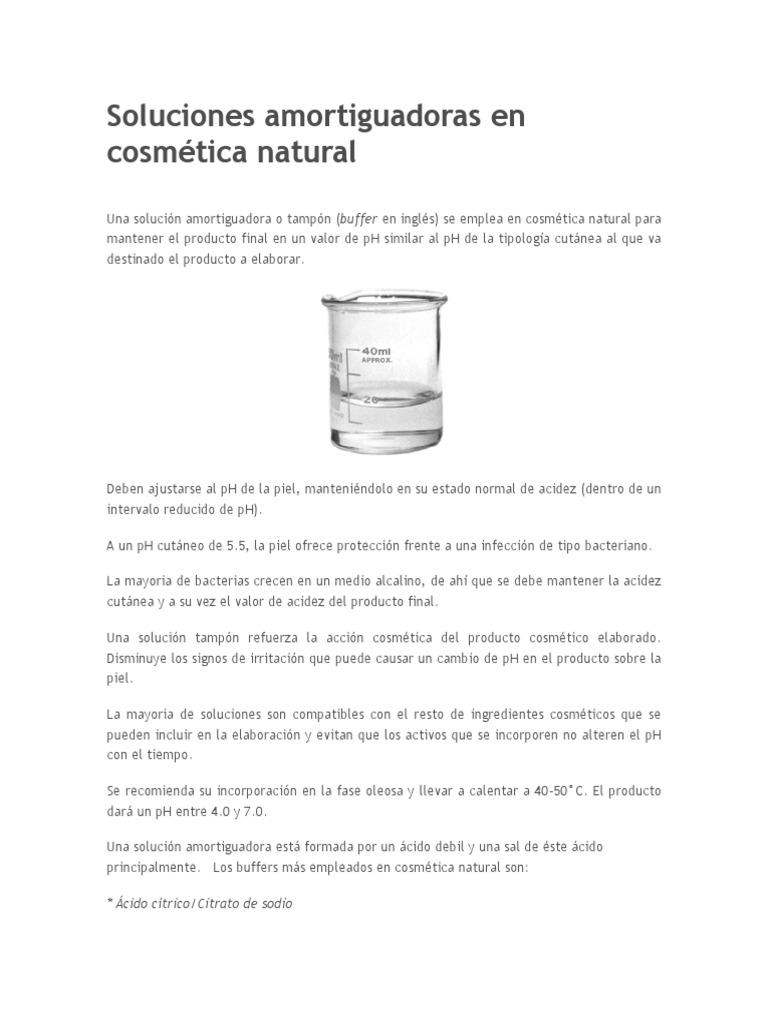Buffer Solución Tampón ácido Láctico