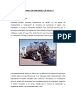 Camiones Distribuidores de Asfalto