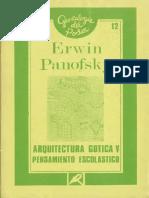 Erwin Panofsky - Arquitectura Gótica y Pensamiento Escolástico.pdf