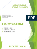 Process and Mechanical Design of Heat Exchanger