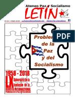 Boletin del Ateneo Paz y Socialismo de mayo de 2018