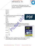 Past 10 Years AIIMS Medical Test Solved Papers