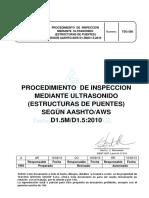 Tsg 580 Procedimiento de Ut Estructuras de Puentes Aashtoaws d1.5m d1.5 Rev A