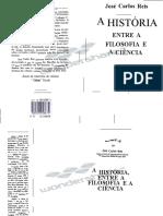 A Historia Entre a Filosofia e a Ciencia Jose Carlos Reis 1